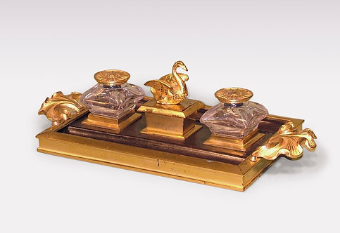 Antique Bronze and Ormolu Pentray