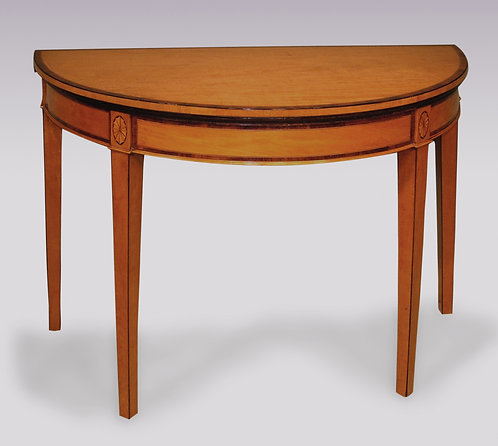 Antique Sheraton Period Half-Round Satinwood Card Table SOLD