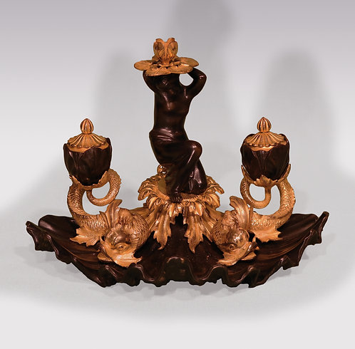 Early 19th Century Bronze and Ormolu shell Pentray