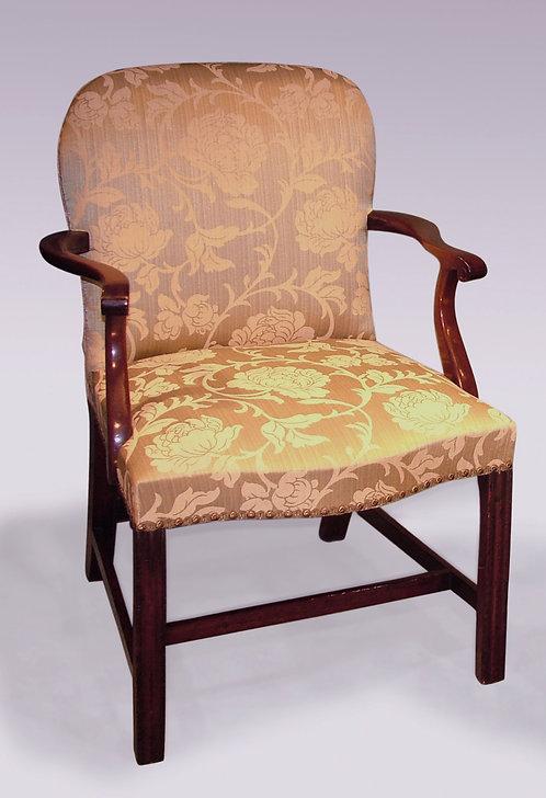 Antique 18th Century George III Mahogany Armchair