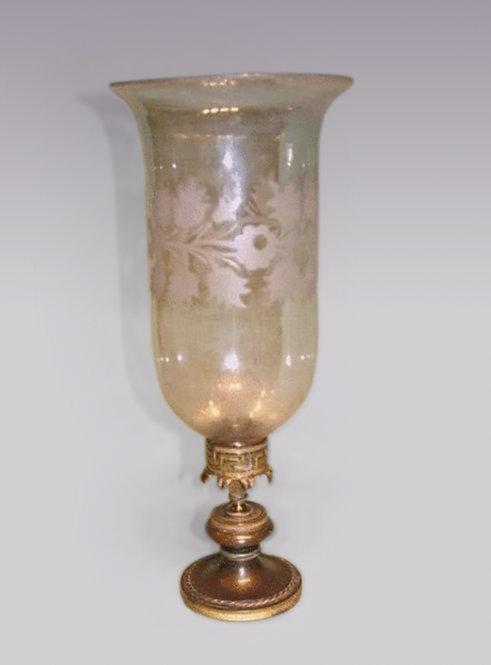 Regency Period Bronze and Ormolu Storm Lamp