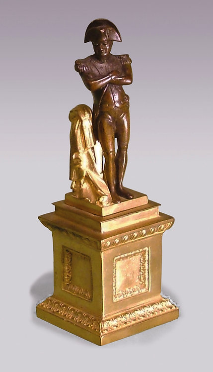 Mid-19th Century Bronze and Ormolu Model of Napoleon