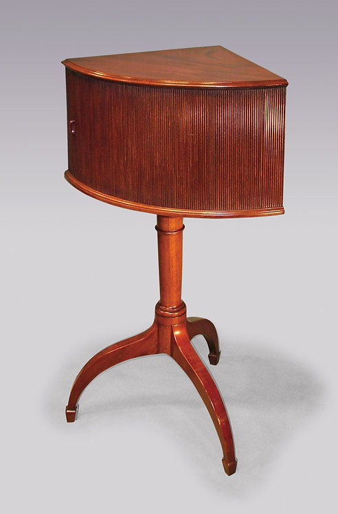 18th Century mahogany Corner Bedside Cupboard.