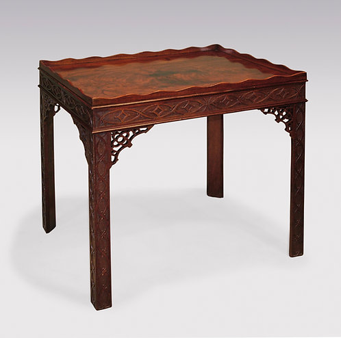 Mid-18th Century Chippendal Period Mahogany Silver Table