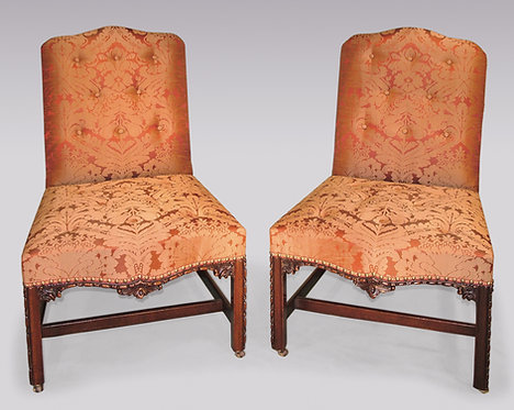 Pair of Chippendale Period Side Chairs