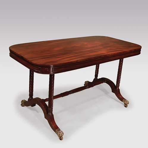 A Regency period end support writing table stamped Gillows