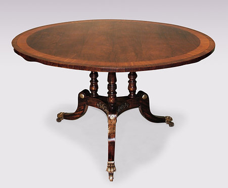 Antique Regency Period Rosewood Breakfast Table