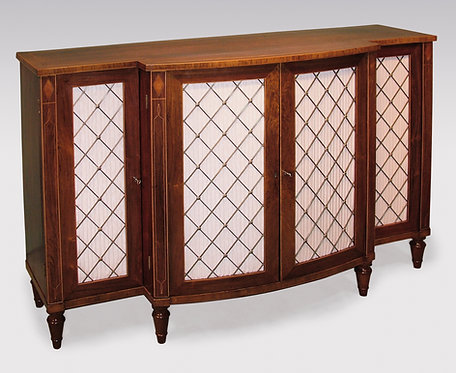 Early 19th Century Rosewood Breakfront Bowfront Chiffonier