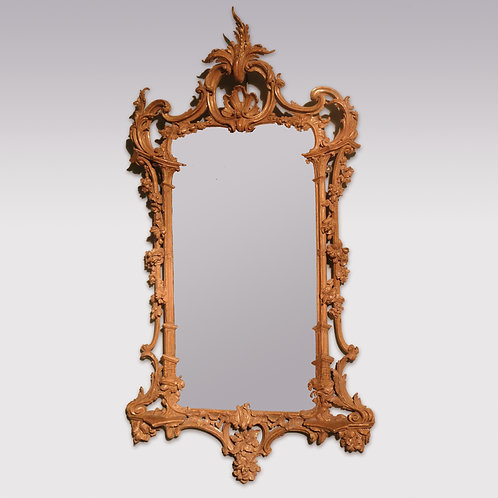 18th Century carved giltwood Chinese Chippendale Mirror