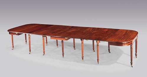 Regency Period Mahogany Extending Dining Table