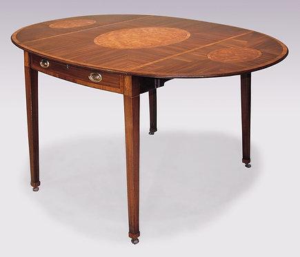 Large Oval Mahogany Pembroke Table