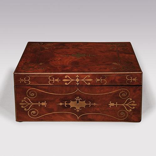 An early 19th Century Regency period mahogany Stationary Box