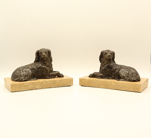 19th Century Bronze Models of Dogs