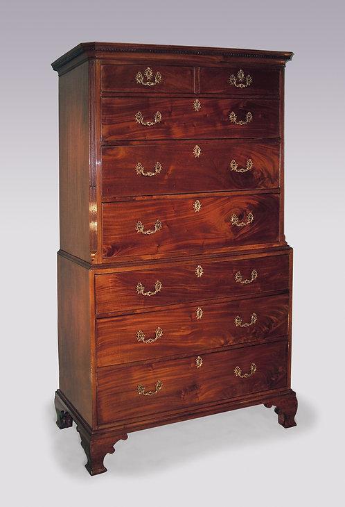 Antique mid 18th Century mahogany Tallboy