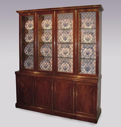 Early 19th Century Mahogany Display Bookcase