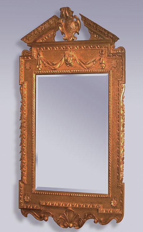 George II Period Giltwood Looking Glass