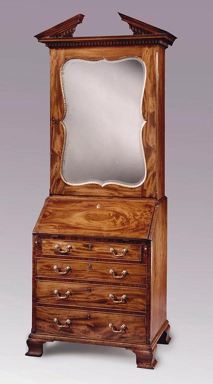 Antique 18th Century Mahogany Bureau Bookcase