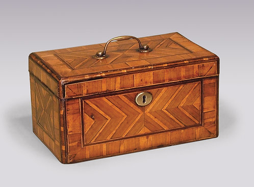 Antique George II Period Walnut Veneered Tea Caddy