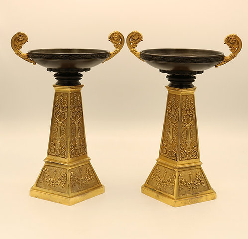 Bronze and Ormolu Tazzas of Unusual Design