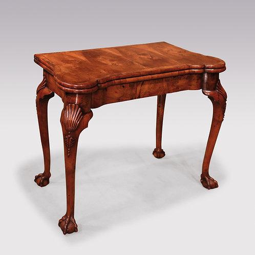 18th Century George ll Walnut Card Table