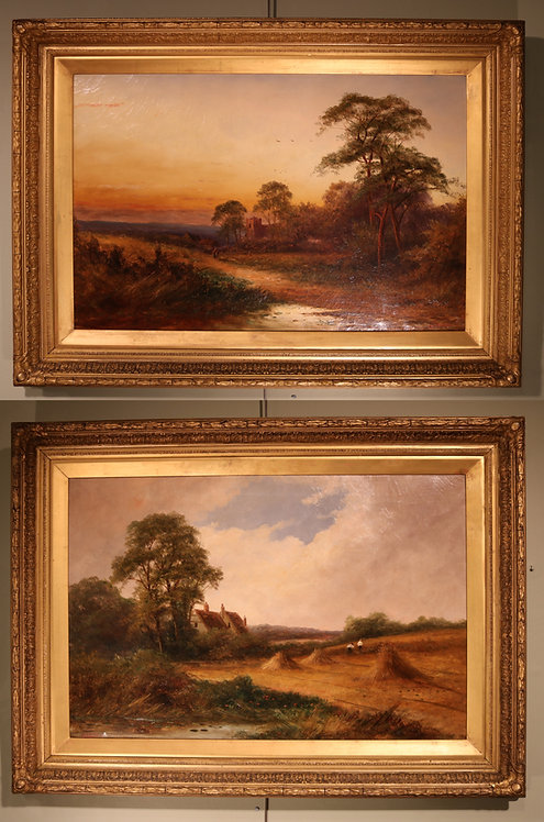 Pair of Oil Paintings by F. Walters
