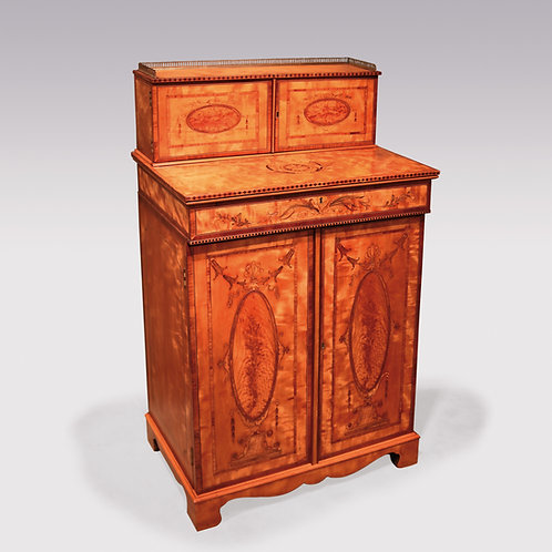 18th Century Satinwood Collector's Cabinet