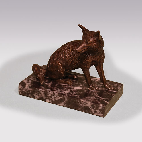 Early 19th Century Bronze Fox Cardholder