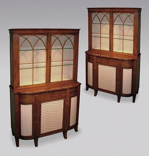 Near Pair of Early 19th Century Regency Period Bookcases