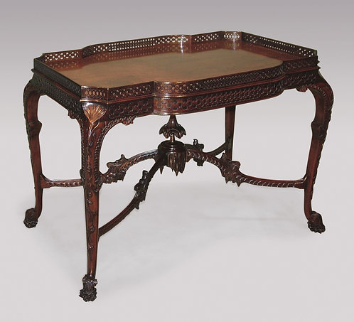 A fine 19th Century Chippendale style well carved mahogany Silver Table SOLD