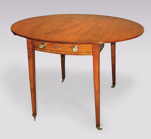 Antique Sheraton Period Solid Satinwood Pembroke Table