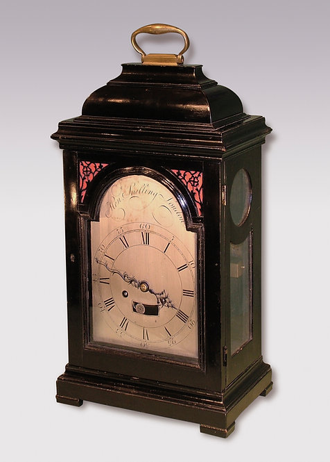 Mid-18th Century Ebonized Bracket Clock