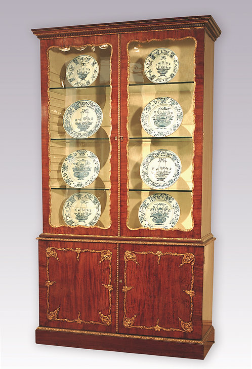 Mid-18th Century Mahogany and Gilt Display Bookcase