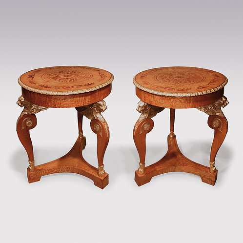 Pair Of Mid 19th Century Russian Ormolu Mounted Hungarian Ashwood Centre Tables