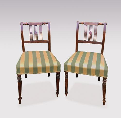 Set of six early 19th Century Regency mahogany single Dining Chairs