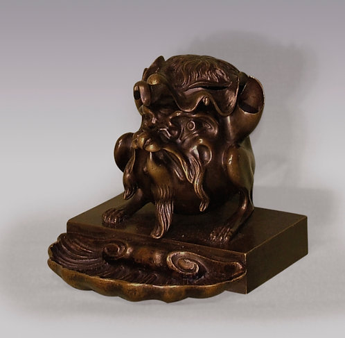 Early 19th Century Bronze Satyr Inkwell
