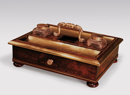 Antique Regency Period Rosewood and Brass Pentray SOLD