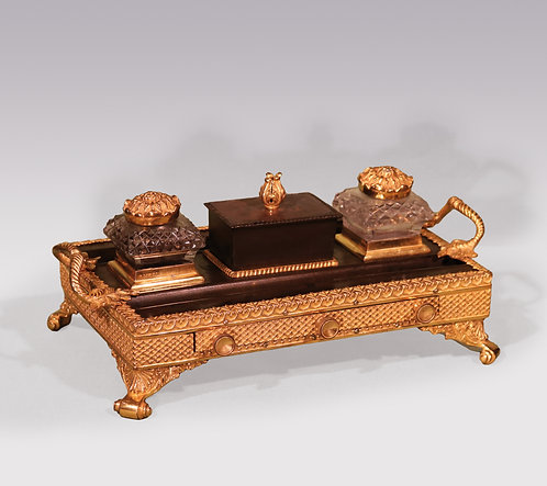 Bronze and Ormolu Pentray with Drawer SOLD