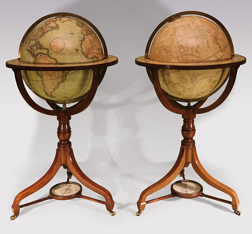 A pair of early 19th century globes by J&W Cary
