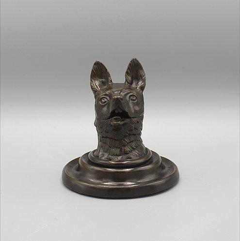 Fox Head Inkwell