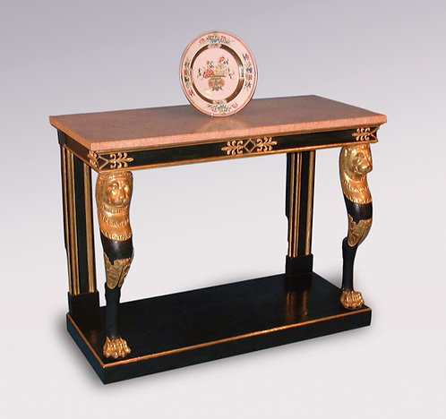 Antique Regency Period Painted and Gilt Console Table