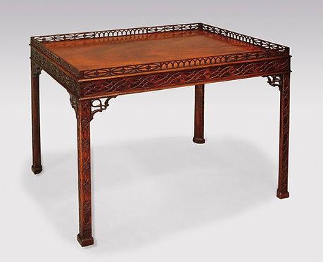 Fine Chippendale Period Mahogany Silver Table