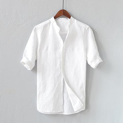 Men Shirts White Linen