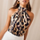 Thumbnail: Sexy Off Shoulder Leopard Blouse Chiffon Women Top