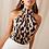 Thumbnail: Sexy Off Shoulder Leopard Blouse Chiffon Women Top