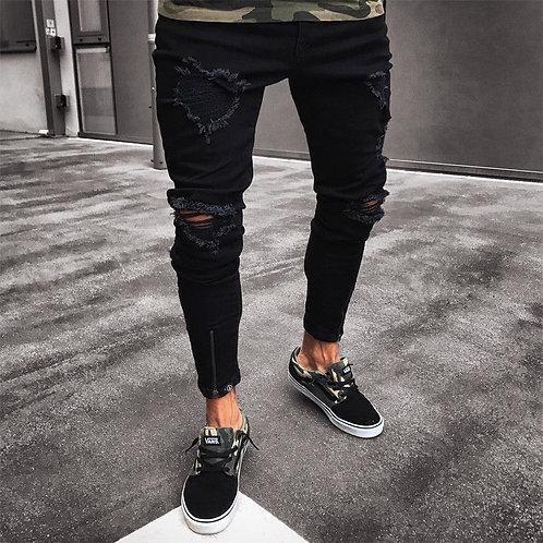Black Jeans Skinny Ripped