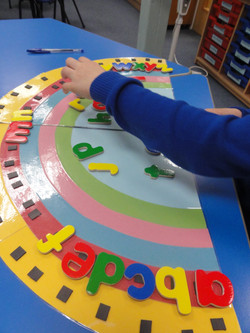 Learning the alphabet and phonics