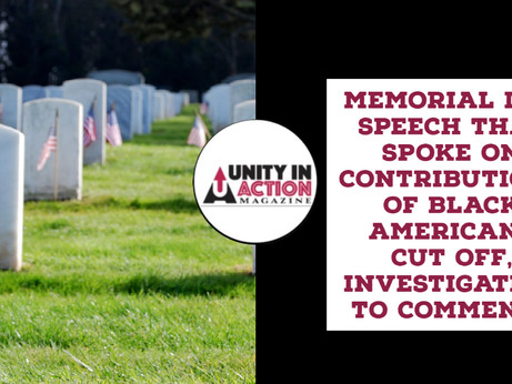 Memorial Day Speech By Veteran Cut Off When He Spoke On The Contributions By Black Americans