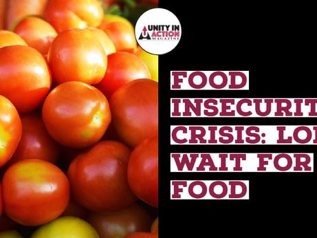 Huge Crisis: People in Line Waiting 3 hours to get food.