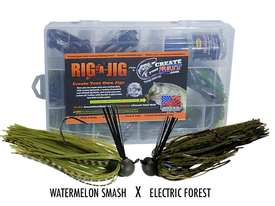 RIG-A-JIG Mini Combo Kit_Watermelon Smash X Electric Forest