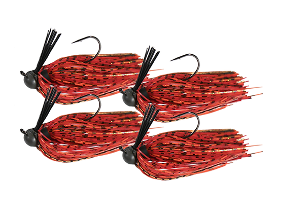 RIG-A-JIG Mini Pack: Delta Fire Craw (4 Pack)